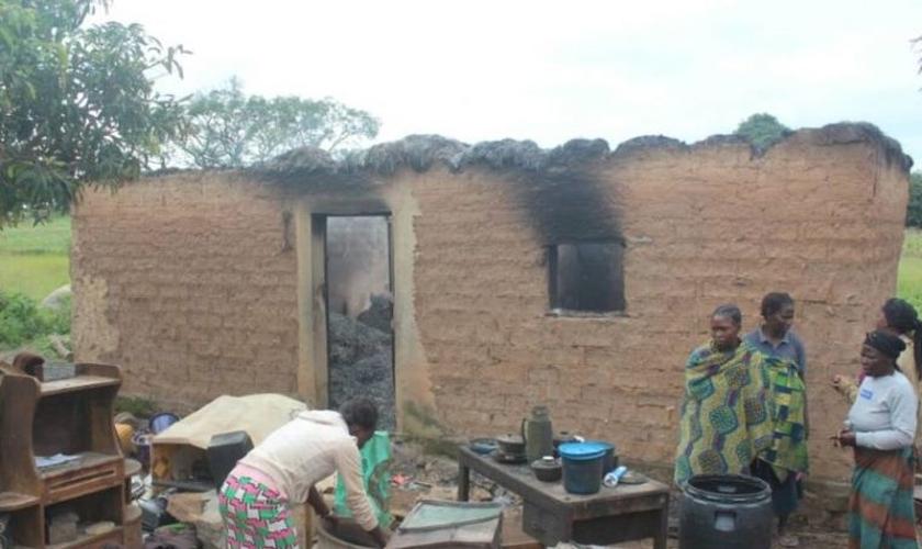 As consequências dos ataques de Fulani em Barkin Ladi, Nigéria, em 2018. (Foto: Reprodução/World Watch Monitor)