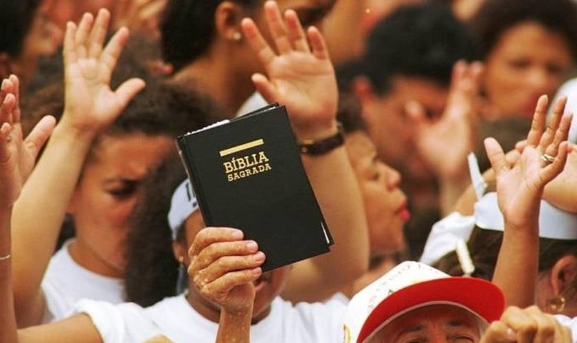 Eventos evangélicos reúnem, cada vez mais, grandes multidões. (Foto: Masao Goto/Veja)