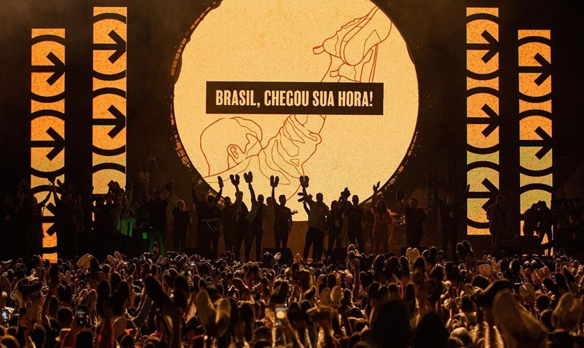 O The Send atraiu cerca de 150 mil pessoas em três estádios. (Foto: Dunamis Movement)