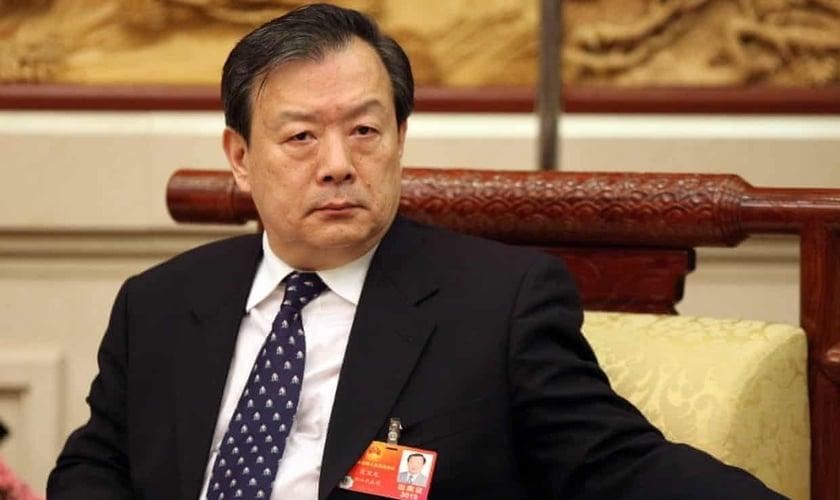Xia Baolong, nomeado chefe do escritório de ligação da China em Hong Kong, é um político linha dura e sinal de maior controle do continente. (Foto: Imaginechina Limited / Alamy Stock Photo)