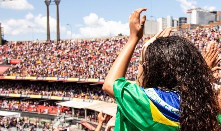 The Send Brasil reuniu milhares de cristãos em São Paulo e Brasília. (Foto: Reprodução/The Send Brasil)