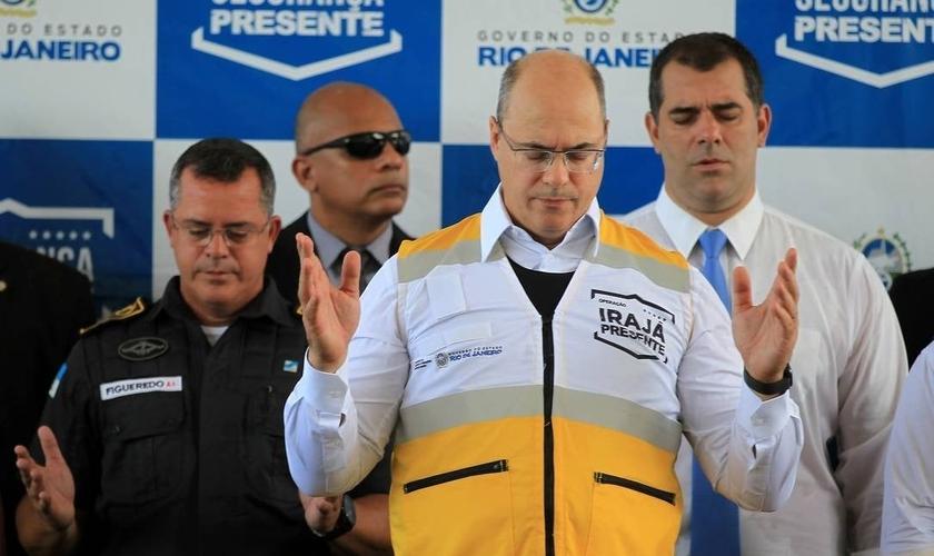 Governador Wilson Witzel no lançamento do programa Irajá Presente. (Foto: Gabriel Paiva / Agência O Globo)