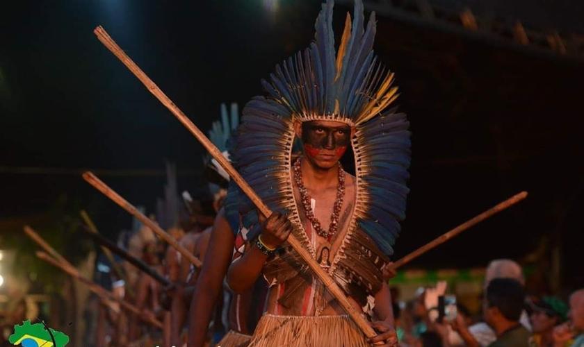 Indígena cristão, membro do Conselho Nacional de Pastores e Líderes Evangélicos Indígenas. (Foto: Reprodução/CONPLEI)