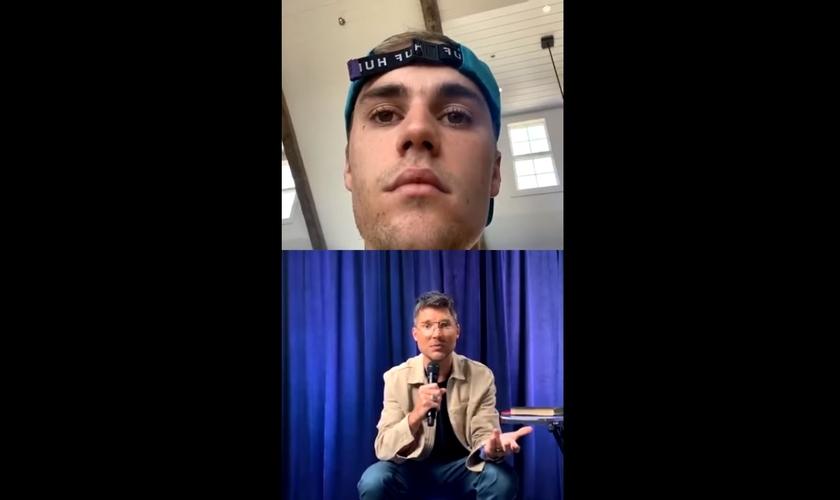 A pregação do pastor Judah Smith foi transmitida ao vivo por Justin Bieber. (Imagem: Instagram)