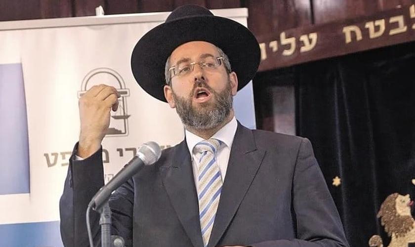 Rabino-chefe de Israel David Lou. (Foto: Reprodução/Haaretz)
