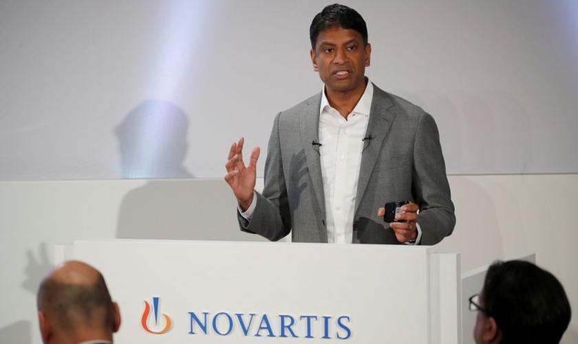 Van Narasimhan, presidente-executivo da Novartis. (Foto: Reprodução/BBC)