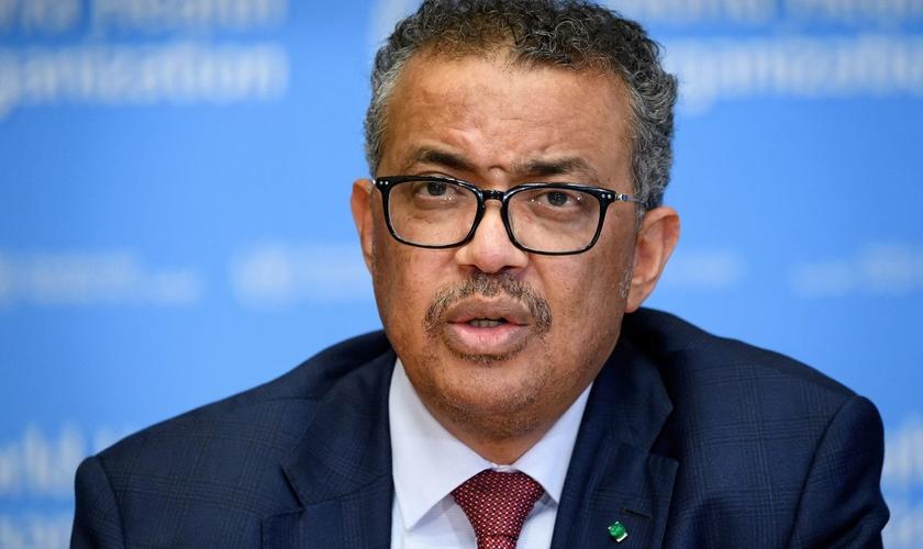 Diretor-geral da Organização Mundial da Saúde, Tedros Adhanom Ghebreyesus, em Genebra. (Foto: Fabrice Coffrini/AFP via Getty Images)
