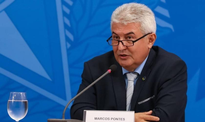 O ministro da Ciência e Tecnologia, Marcos Pontes. (Foto: José Dias/PR)