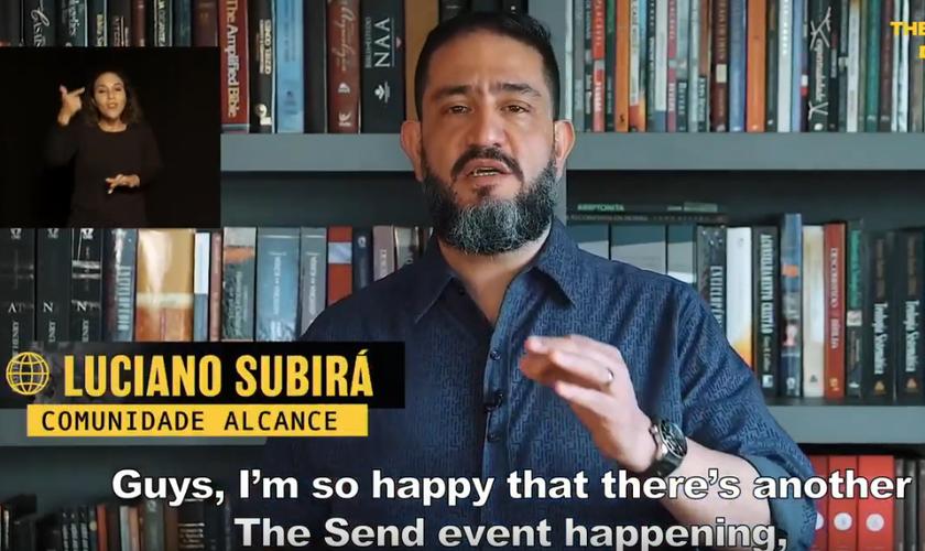 Pr. Luciano Subirá, da Comunidade Alcance, no The Send online. (Foto: YouTube)