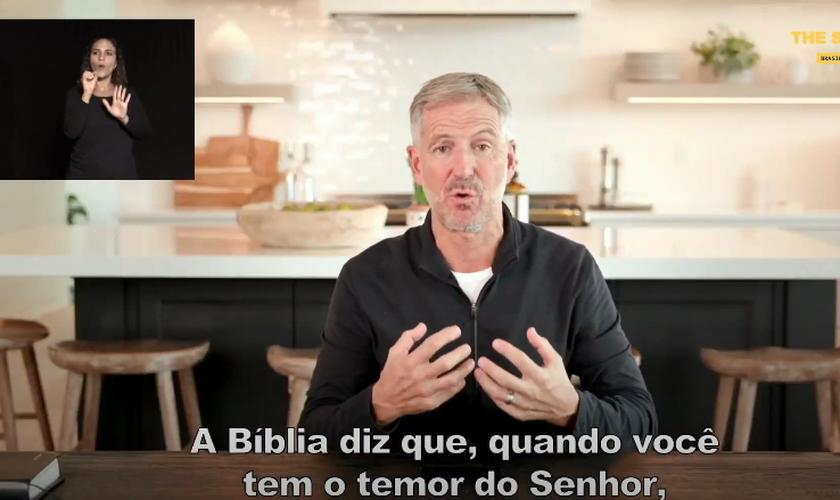 Pastor John Bevere em participação no The Send Brasil online. (Foto: Reprodução/YouTube)