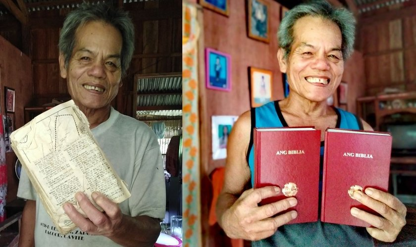 O homem teve seu pedido atendido após uma missionária compartilhar seu pedido nas redes sociais. (Imagem: Facebook)