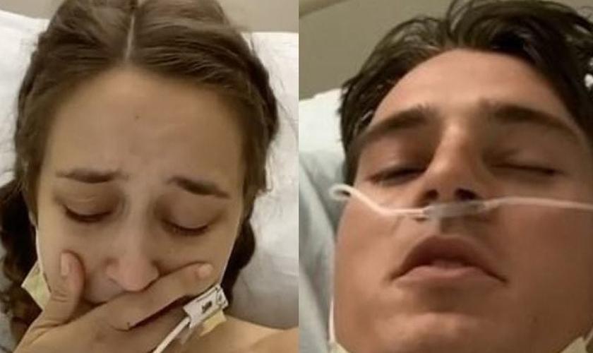 Marcus e Kristin Johns permanecem internados, mas fora de perigo. (Foto: Reprodução/GOD TV)
