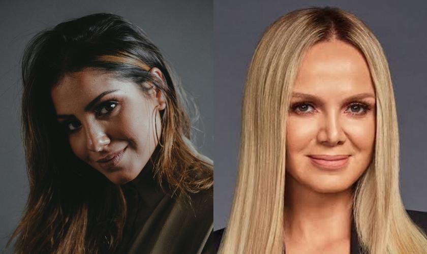 A cantora gospel Gabriela Rocha (esquerda) receberá a apresentadora Eliana (direita) em sua casa no próximo domingo, 21/06. (Imagem: Divulgação)
