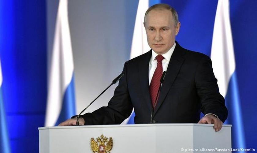 Reforma constitucional, validade por 77,92%, permite que Putin permaneça no poder até 2036. (Foto: Reproduçlão/DW)