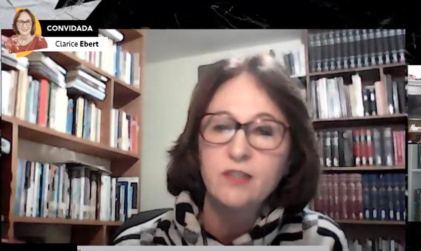 Live com a psicóloga Clarice Ebert. (Imagem Guiame)