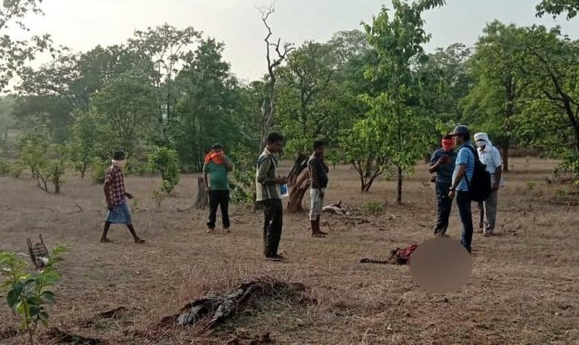 O corpo de Bajjo Bai Mandavi foi encontrado no deserto quatro dias depois que ela foi buscar lenha. (Foto: Reprodução / Morning Star News)
