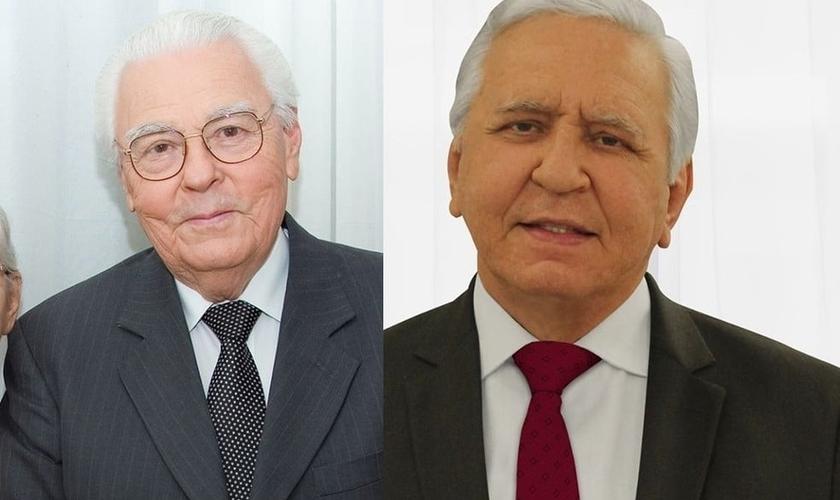 Pastor Sebastião Rodrigues (à esquerda) e seu filho Rubens Siro de Souza (à direita) morreram de Covid-19, com cinco dias de diferença. (Foto: Facebook)