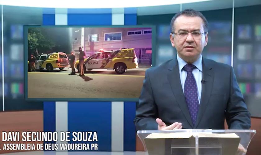 Pastor Davi Secundo de Souza comenta abordagem policial em vídeo. (Foto: Facebook/Assembleia de Deus Madureira)