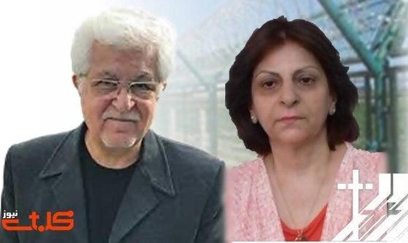 O Pr. Victor Bet Tamraz e Amin Afshar Naderi foram condenados à prisão, no Irã. (Foto: Reprodução / Mohabat News)