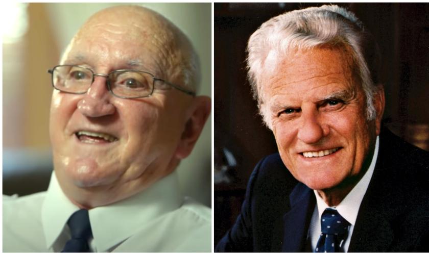 George Palmer e o evangelista Billy Graham. (Foto: Reprodução / AEBG)