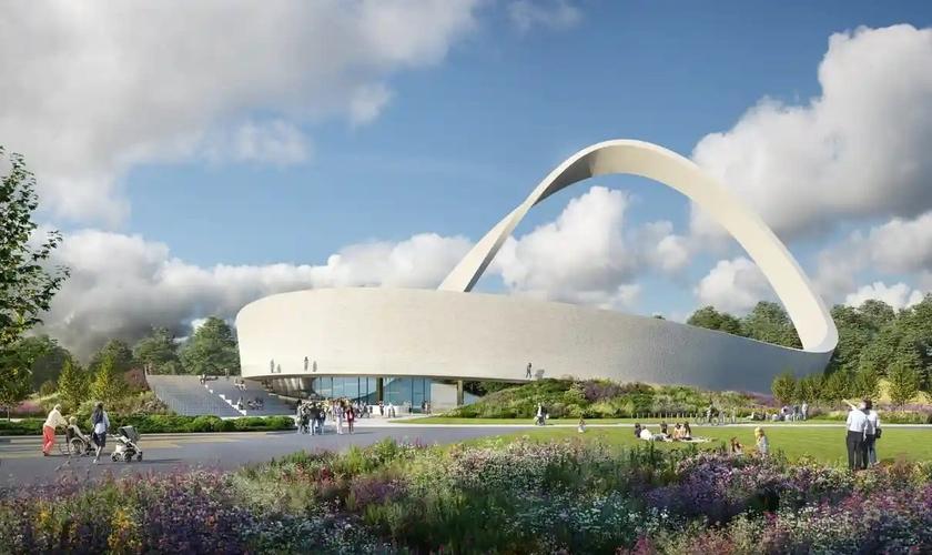 O monumento será feito 1 milhão de tijolos, cada um representando uma oração atendida. (Foto: Snug Architects / Renderloft)