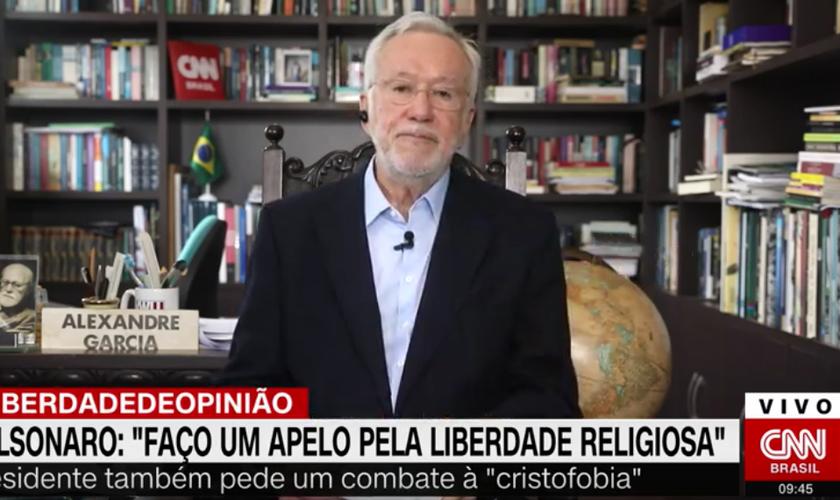 """Alexandre Garcia, no quadro """"Liberdade de Opinião"""" da CNN Brasil. (Foto: Reprodução / YouTube)"""