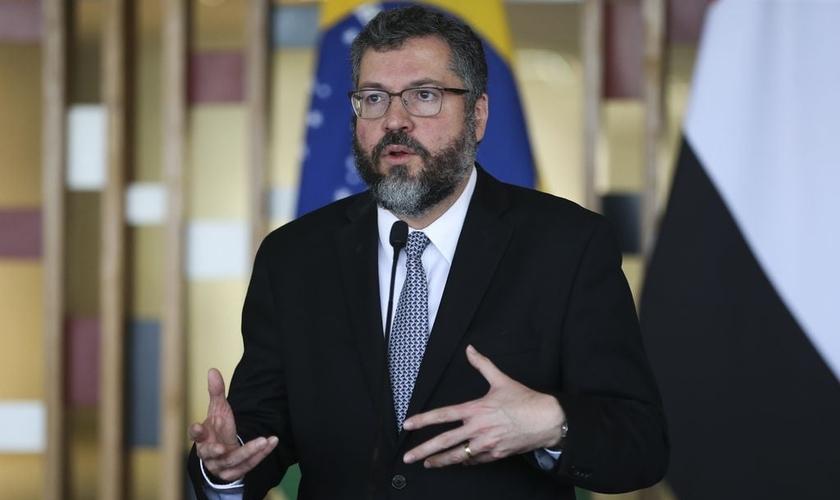 O ministro das Relações Exteriores do Brasil, Ernesto Araújo. (Foto: Agência Brasil)