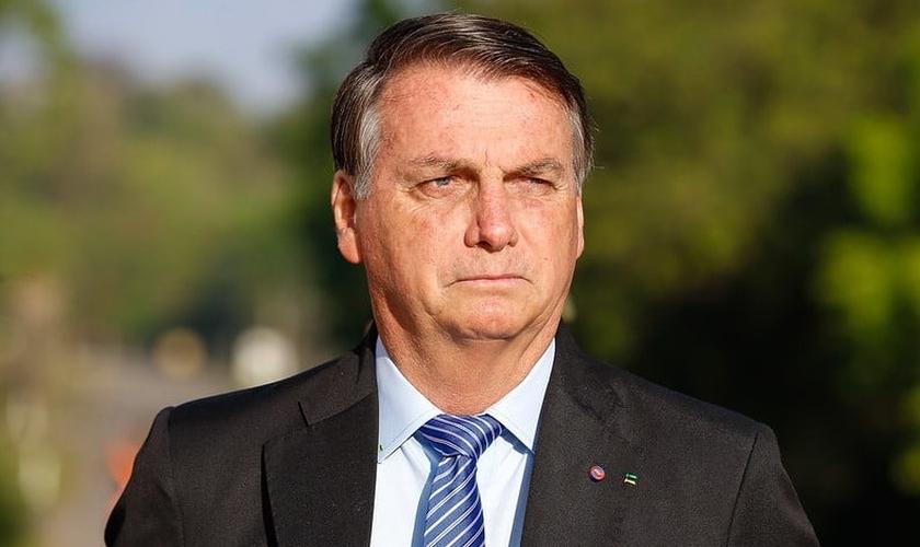 Presidente da República Jair Bolsonaro, participa da formatura matinal da AMAN. (Foto: Carolina Antunes/PR)