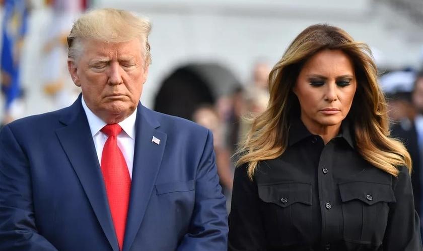 O presidente e a primeira-dama dos EUA, Donald e Melania Trump. (Foto: Nicholas Kamm / AFP)
