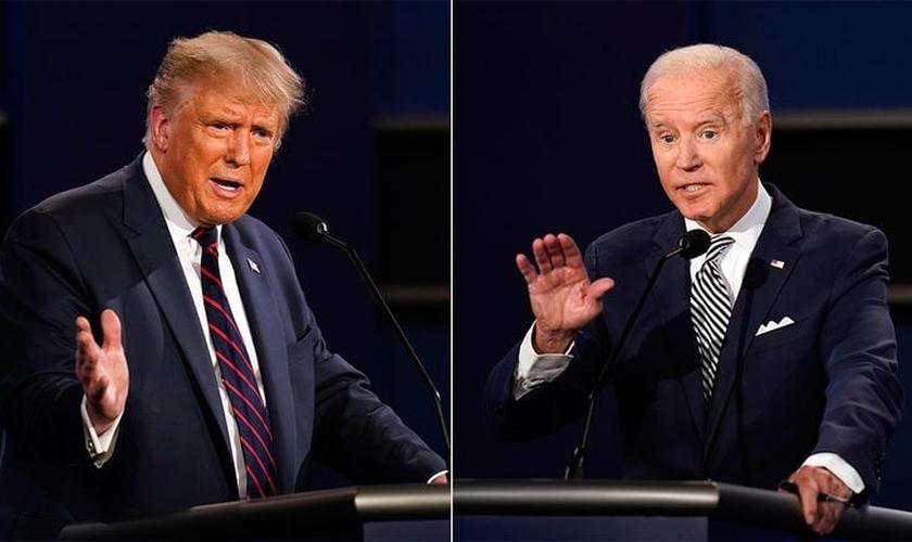 Donald Trump (R) e Joe Biden (D) disputam eleições em 3 de novembro. (Foto: Reprodução / El País)
