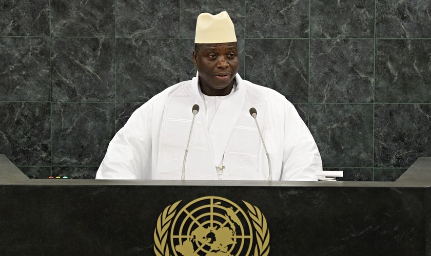 Ex-ditador Yahya Jammeh governou sob regime islâmico. (Foto: Reprodução / Christianity Today)