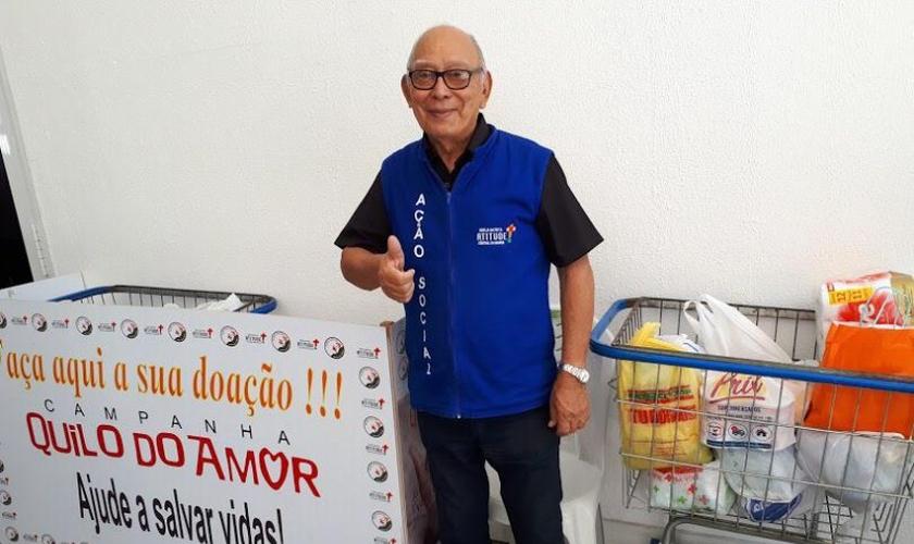 Francisco Rodrigues Mesquita, de 77 anos, teve a vida transformada. (Foto: Igreja Batista Atitude)