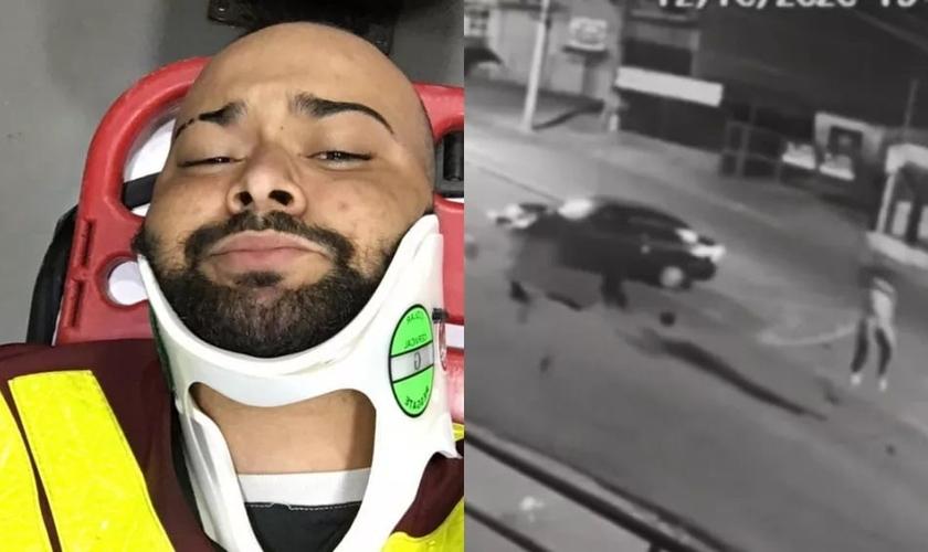 Motociclista tirou selfie minutos após acidente em Salto (SP). (Foto: Reprodução / Arquivo Pessoal)