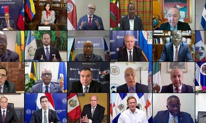 As sessões da 50ª Assembleia Geral da Organização dos Estados Americanos foram realizadas virtualmente. (Foto: Juan Manuel Herrera / OEA).