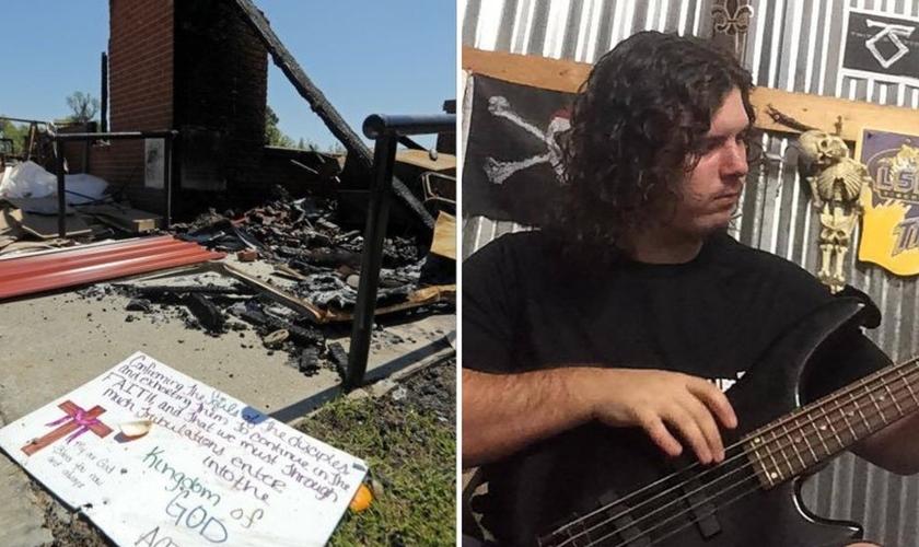 O músico Holden Matthews ateou fogo a três igrejas predominantemente afro-americanas. (Foto: Reprodução / Fox23)