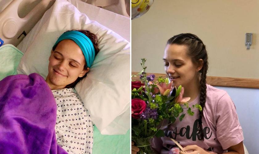 Jenessa Thompson, de 15 anos, passou pela UTI após acidente em campo de futebol. (Foto: Facebook/Dan Thompson)