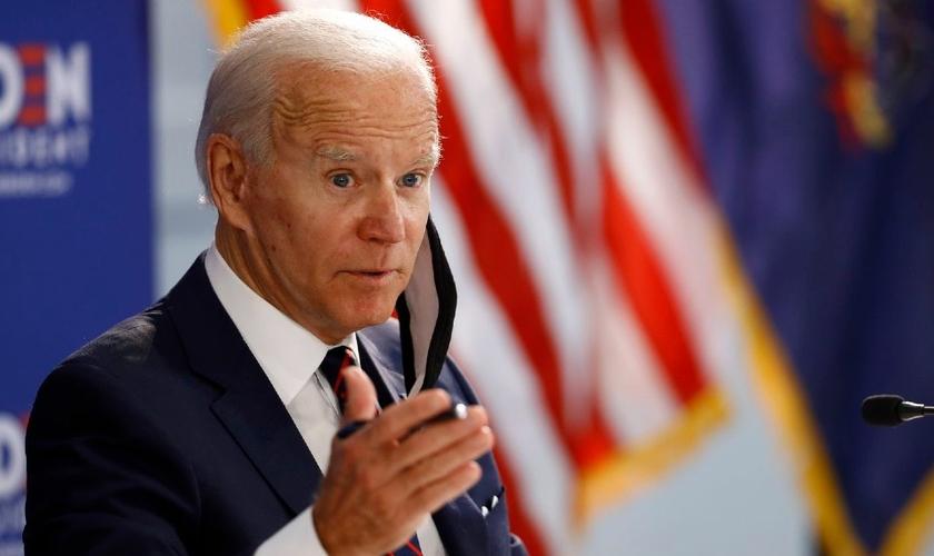 O democrata Joe Biden espera tomar posse da presidência dos Estados Unidos em 2021. (Foto: (AP Foto/Matt Slocum)