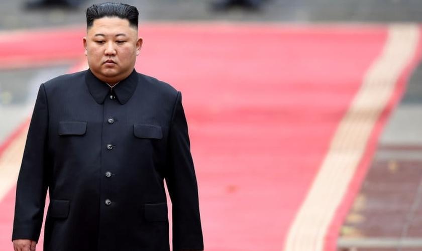 O líder da Coreia do Norte, Kim Jong-un. (Foto: Manan Vatsyayana / AFP via Getty)
