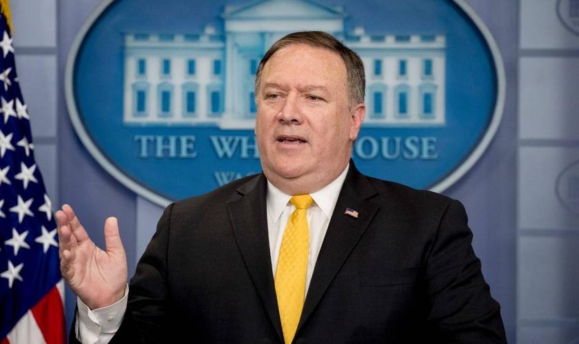 Secretário de Estado dos EUA, Mike Pompeo, é mediador de políticas pela liberdade religiosa. (Foto: Andrew Harnik/AP)