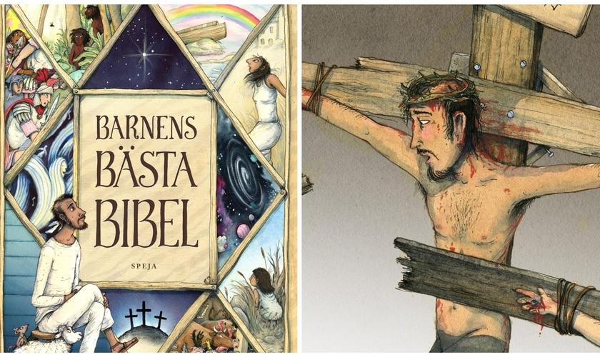 Capa e ilustração da Best Children Bible. (Foto: Marcus-Gunnar Pettersson / Instagram)