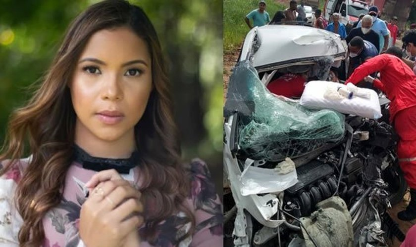 A cantora Amanda Wanessa sofreu grave acidente na última segunda-feira (4). (Imagem: Notícias em Foco)