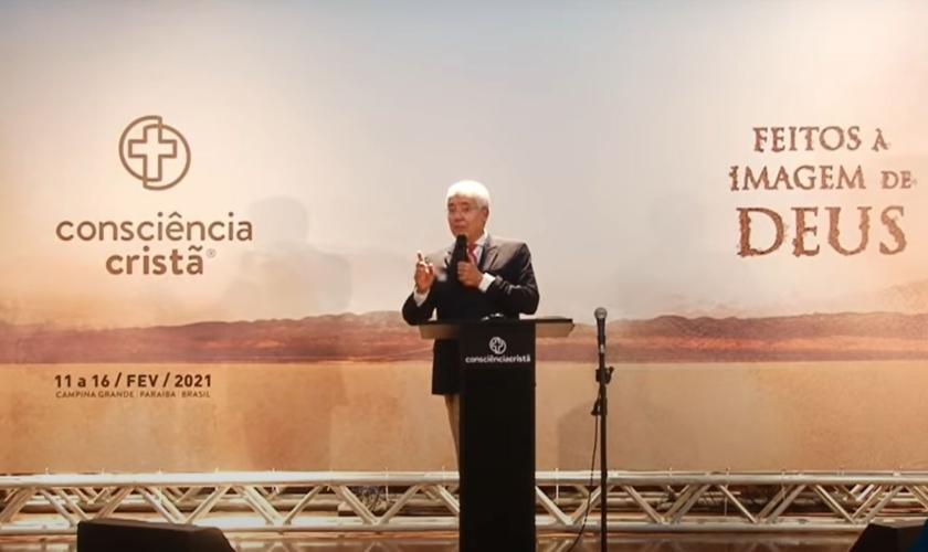 Hernandes Dias Lopes na 23ª edição do Encontro para a Consciência Cristã, 2021. (Foto: YouTube/Reprodução)