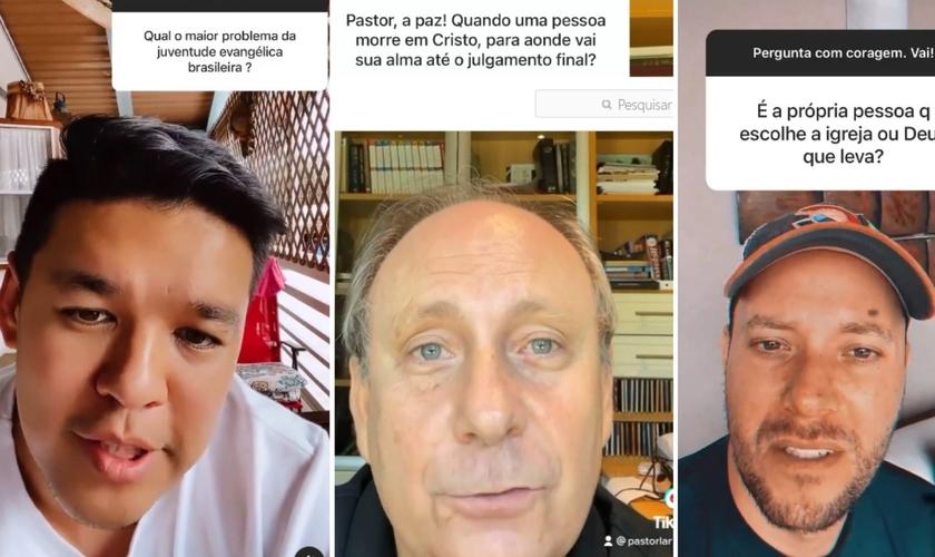 Os pastores Teo Hayashi, Lamartine Posella e André Valadão. (Foto: Reprodução / Instagram)