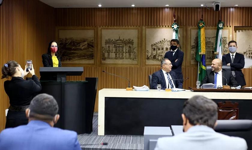 Câmara Municipal de Natal aprova projeto de lei que impede fechamento de igrejas durante pandemia. (Foto: Elpídio Júnior/CMN/Divulgação)