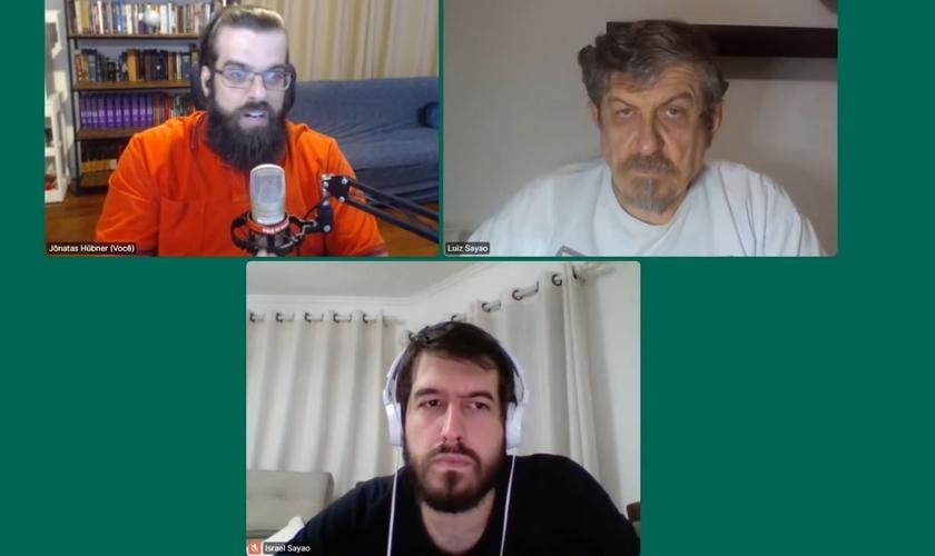 Jônatas Hübner, Luiz Sayão e Israel Sayão. (Foto: Reprodução/YouTube)
