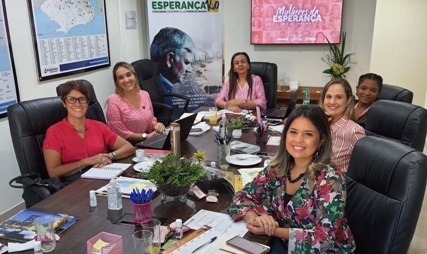 Primeira reunião de planejamento do Comitê de organização do Mulheres da Esperança Rio. (Foto: Facebook/Esperança Rio 2021)