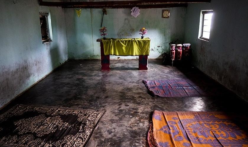 Igreja cristã na vila de Bilkondi, na Índia. (Foto: Reprodução / ICC)