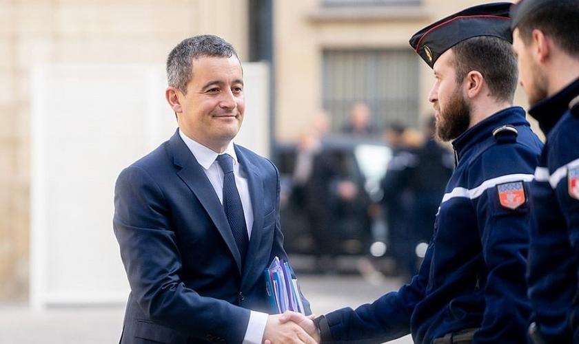 O ministro do Interior da França, Gérald Darmanin. (Fotos: Jacques Paquier, Wikipedia)