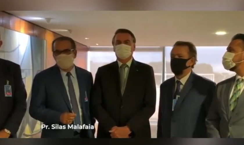 Pastores foram recebidos pelo presidente Jair Bolsonaro, em Brasília. (Foto: Reprodução / Instagram)