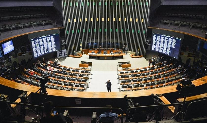 Plenário da Câmara dos Deputados, onde foi realizada a votação. (Foto: Reprodução / JP)
